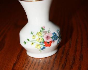 Vintage Porcelain Vase made in Brazil by Schmidt Leart