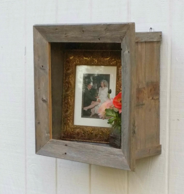 Rustic Shadow Box Frame Bouquet Display Cabinet Deep Wall