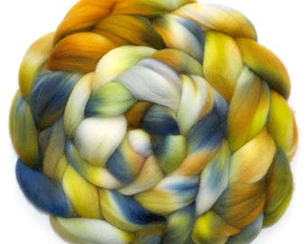 Falkland Roving Handdyed Combed Top - Bronzed Brussels 6.1 oz.