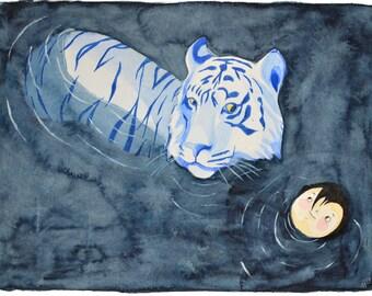 The Tiger and child - Original