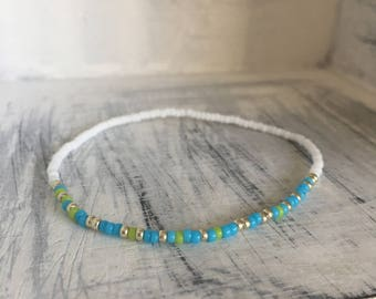 And Still I Rise,  Morse Code Stretchy Bracelet, Pick your own colors