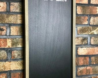 To Do List Chalkboard With Chalk Tray/Chalkboard/Framed Chalkboard/Kitchen Chalkboard/Farmhouse Chalkboard/Rustic Chalkboard/Chalk Board