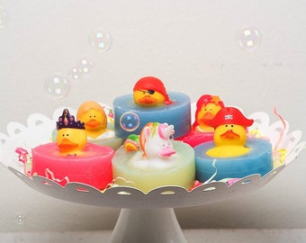 Rubber Duck Soap, Unicorn Soap, Mermaid Rubber Duck Soap, Pirate Rubber Duck Soap, Princess Soap made with organic oils