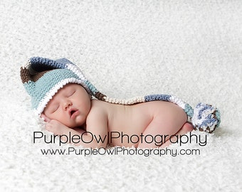 Striped Long Tail Pom Pom Hat Crochet Pattern Pdf, All sizes newborn-adult,makes a  terrific photo prop, Instant Download Available