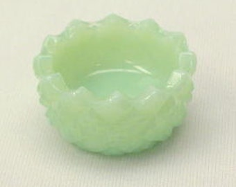 Salt Cellar Hobnail in Jade Green Glass