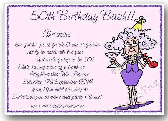 Printed personalised birthday party invitations 30th 40th like this item filmwisefo Gallery
