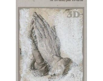 Book sheets of 24 Mini 3D collage, decoupage condolence motives