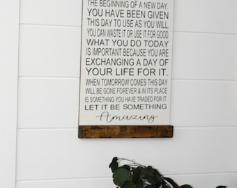 Inspirational Sign, Motivational Sign, Today is the beginning, Inspirational Quote, Motivational Quote, Collage Wall, Home Decor, Gift