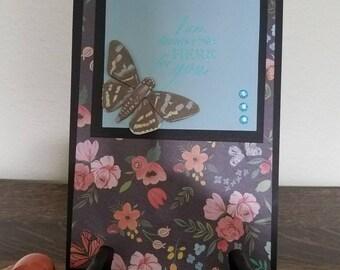 Sympathy Card, I am always here for you sympathy card, Butterfly Sympathy Card