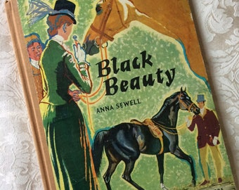 Black Beauty by Anna Sewell - Vintage 1964 hardback for younger readers - children's classic