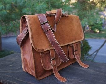 15.5 inch Leather messenger bag,messenger bag leather - leather cross body bag ,cross body leather Breifcase,handmade  cross body bag