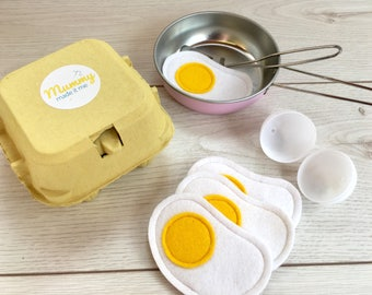 Pretend Play Box of Eggs with Mini Felt Eggs inside