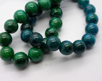 8 12 mm chrysocolla stones has round natural stone