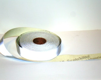 3M Scotchlite Silver Reflective Fabric Sewing Tape 1 Yard or 1 Meter Scotchlite Reflective Material
