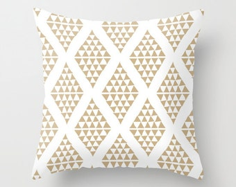 Neutral Pillow Cover, Triangle Pillow cover, Beige Pillow cover, Losange Decor, Nordic Pillow cover, Neutral Nursery Pillow cover