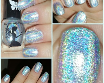 Oasis 15ml: HOLO HANGOVER Collection, Spectraflair Nails, Nail Polish, Spectraflair Polish, Spectraflair, Silver Holo, Holo Nails, Sparkle