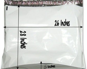 10  28x26x5 Large Poly Mailer Plastic Shipping Bag Envelopes Polybag Polymailer