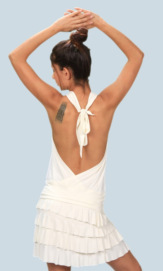 Spring Sale! Winona Cowl Front Backless Halter Top in White for Womens Fashion  Boho Chic Festival Yoga Wear Wholesale