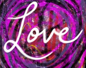 Love Art Print or Greeting Card