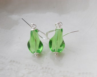 Simple Murano Glass Faceted Earrings