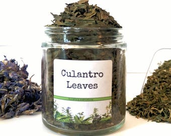 Dried Culantro/Gourmet Herbs/Dried Herbs/Food Gift/Spice Rack/Gifts For Foodies/Foodie Gift/Seasonings Gifts/Kitchen Pantry/Chef Gift