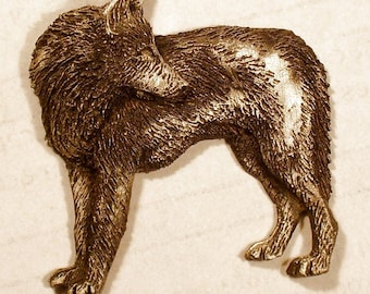 New Wolf Design  { Back Track } of a Arctic wolf......