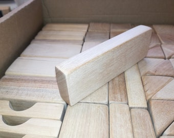 """83 Natural Wooden blocks """"Forest building kit""""/wood construction set/Classic Educational Kids Toy/Eco/Learning Toy/Building blocks/Handmade"""