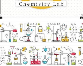 1 Roll of Limited Edition  Washi Tape- Chemistry Lab
