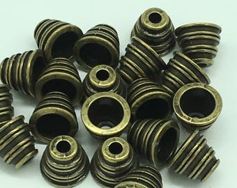Antique Gold Plated Bead Caps 10x10x10 mm