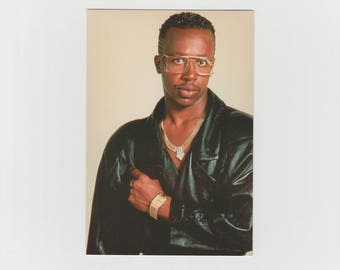 Vintage MC HAMMER 1990's Postcard / MC Hammer Portait Postcard / Hip Hop / Rap, Rapper / R&B / Winterland Rock Express