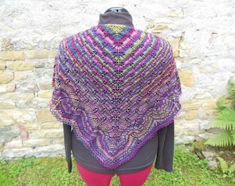 Multicolor snood scarf / shawl