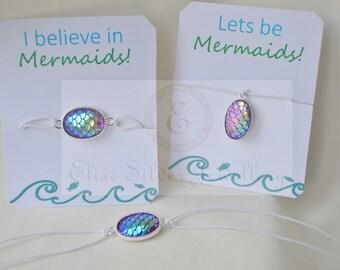 Mermaid wish bracelet, mermaid jewellery, mermaid ring, mermaid necklace, mermaid party gifts, mermaid scales jewellery, always be a mermaid