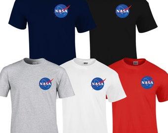 NASA Space Astronaut Geek Nerd Logo Top T-shirt NEW kids