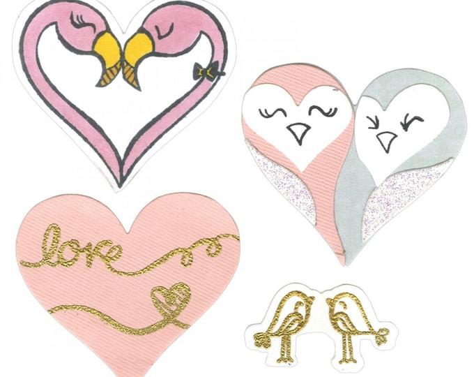 Sizzix Framelits Die Set 8PK w/Clear Stamps - Bird Love by Lindsey Serata 661855