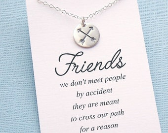 Best Friend Necklace | Arrow Necklace, Friends Friendship Gift, Best Friend Gift, Friendship Necklace, Sister Gift, Birthday Gift | F01