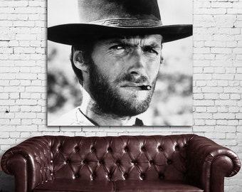 11 Clint Eastwood Western Cowboy Print