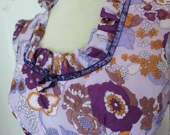 Purple vintage maxi dress