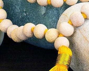 Superior Tulsi Wood Mala Beads - 108 knotted Meditation Beads
