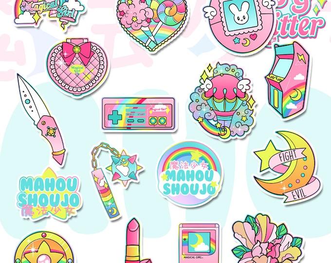 Magical Girl Starter Pack White Vinyl Sticker Pack
