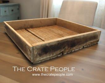 FREE SHIPPING - Square Farm Crate - Farm Tray - Little Wood Tray - little wood crate NO Stenciling