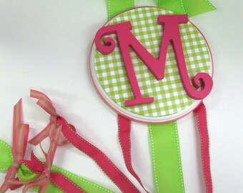 Curly Initial Bow holder