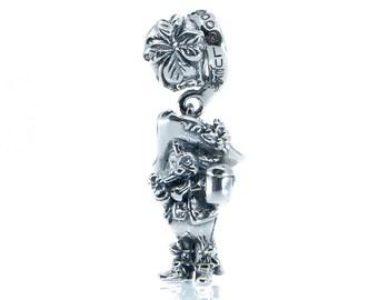 Paddy – Irish Leprechaun Sterling Silver Dangle Charm S925, Good Luck Paddy, Patrick's Day Gift Irish Dangle Jewellery Pendant