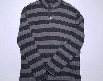 Banana Republic Olive Stripe Long Sleeve Vintage Hanley Shirt L