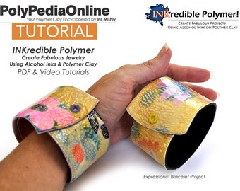 Polymer Clay Tutorial, Polymer Clay Jewelry, DIY Bead, Jewelry Tutorial, Pendant, Necklace, Bracelet, Mirror, DIY Handmade Bead, Alcohol Ink