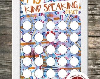 My Kind Speaking Chart   Digital Download
