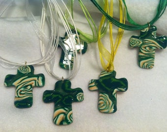 Wild Irish Rose Cross Necklace