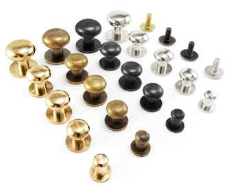 Sam brown button screw studs round Browne rivets 5 8 9 10 13 mm