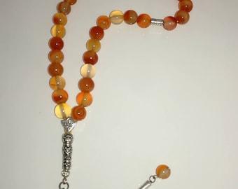 Carnelian Gemstone Tesbih/Prayerbead/Worrybeads