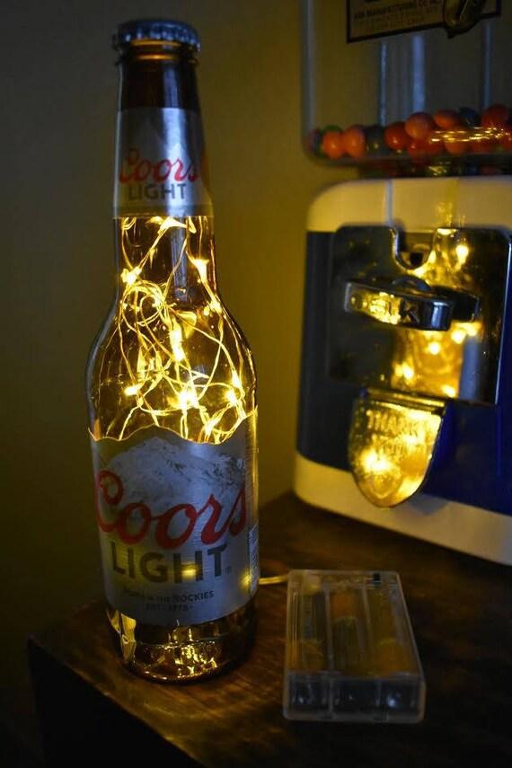 Coors Light Beer Bottle Light, 1 Bottle AA Battery Pack (White Lights),  Coors Beer Lamp, Coors Lamp,Coors Light Light,Coors Light Beer Lamp