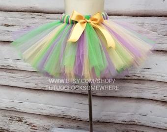 Customizable Mardi Gras Tutu Skirt, Adult Mardi Gras Tutu, Baby Mardi Gras Tutu, Plus Size Mardi Gras Tutu, Purple Gold Green Tutu